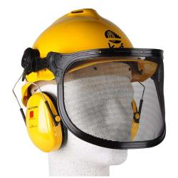 "Combination Forester Helmet ""Peltor"" - ABS, Polyamide - Yellow, Orange"