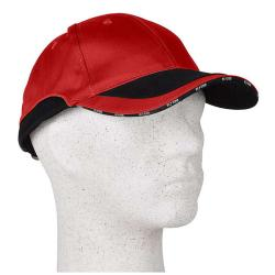 "Cap ""DANIEL"" - 65% Cotton / 35% Polyester - Red/Black"