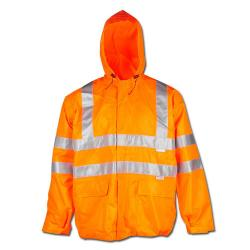 """Attenzione giacca impermeabile """"Warning Tempo di protezione"""" - Planam - 100% PES"""