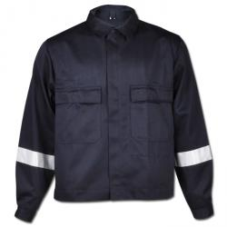 Waist jacket 300 g / m², with reflective stripes and inside pocket, Security