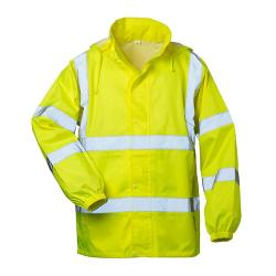 "Visibility Raincoat ""Onno"" - Hooded - fluorescent yellow - Gr. S-XXXL"