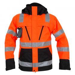 Warnschutzjacke - Ocean Airway High-Vis - Größe S bis 4XL - Orange/ Schwarz