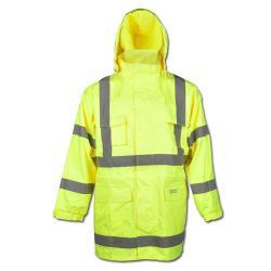 """Synlighed jakke """"MARC"""" - farven gul - Safe Style - EN471 / 3 - EN 343 KL. 3/3 - Atm"""