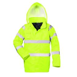 "High-visibility parka ""Harry"" - 100% Polyester - yellow - EN 471 class 3 - EN 343 class 1 - EN 340"