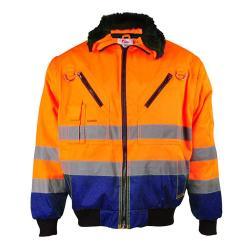 """Giacca """"ERIK"""" - tessuto misto - colore arancione/blu"""
