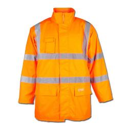 "High-visibility parka ""Stefan"" - Oxford PU coating - color orange - Safestyle EN471/3 - EN 343 - EN340"