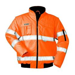 "High-visibility pilot jacket ""Tom"" - 100% PES - EN 471, EN 343"