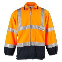 "Høj synlighed fleece jakke ""Benedict"" - elysee / polar fleece - farve orange / marine"