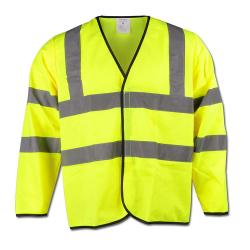 Remaining stock - Warning protection jacket - Gr. XXL (45/46) - yellow - 100% PES - EN471 / 2 - 2 horizontal and vertical reflective strips\n