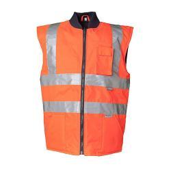 """Attenzione-Inverno Vest """"avvertimento protezione dagli agenti atmosferici"""" - Planam - 100% poliestere - EN 471"""