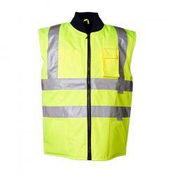 """Warn-Winterweste """"Warnwetterschutz"""" von Planam - 100 % Polyester - EN 471 - Größe L - gelb"""