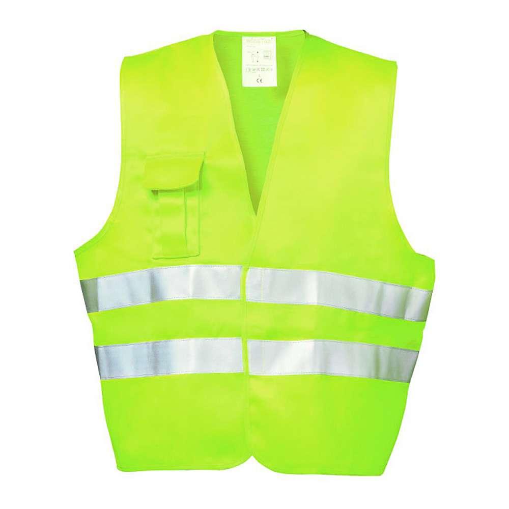 """""""FRED"""" - Textil Warnweste - Farbe gelb - EN 471/2 - WICA-TEX - 3M Reflex"""