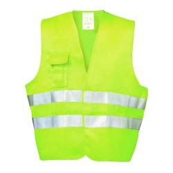 """FRED"" - Textile High Visibility Vest - Yellow Color - EN 471/2 - WICA-TEX - 3M"