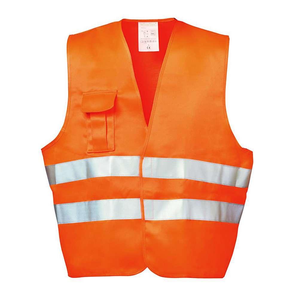 """ALFONS"" - Textil Warnschutzweste - Farbe orange - EN 471/2 - WICA-TEX - 3M Reflex"