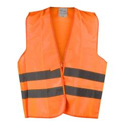 """ERNST"" - Hi Vis Vests - Orange Color - WICA-TEX - EN471/2 - Blended Fabric - Wi"