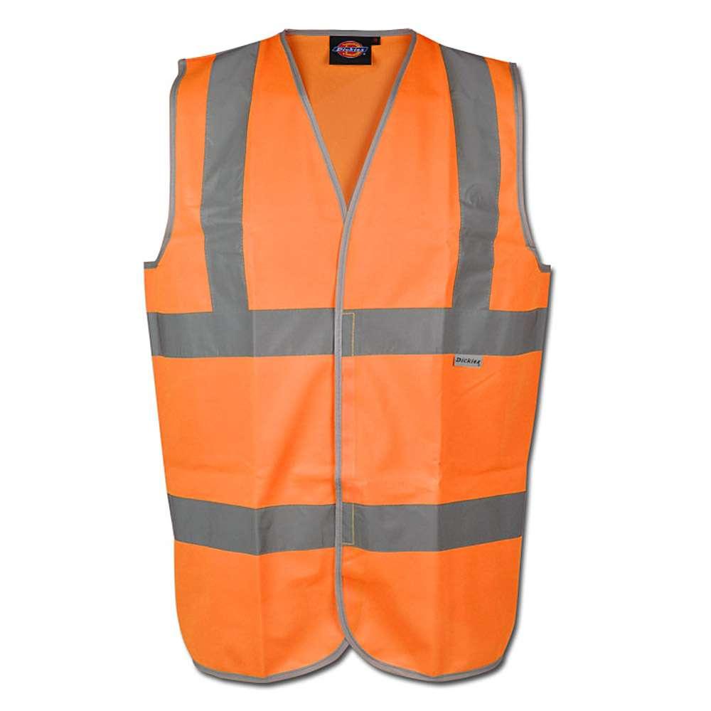 Gilet di sicurezza - velcro - Dickies - colore arancione - EN471 classe 2 livello
