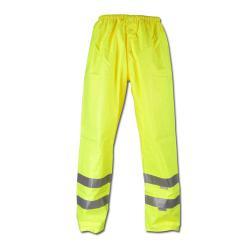 """Attenzione pantaloni pioggia """"avvertimento protezione dagli agenti atmosferici"""" - 100% poliestere - EN 471, EN 343"""
