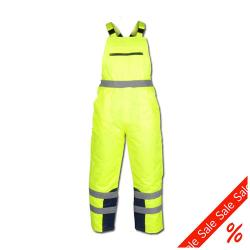 "Remainders - Visibility Dungarees ""THEO"" - 60% CO - 40% PES - Gr. L - yellow / navy"