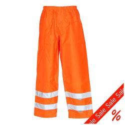 """Restposten - Warn-Regenhose """"Warnwetterschutz"""" - 100% Polyester - EN 741, EN 343 - Größe M - uni orange"""
