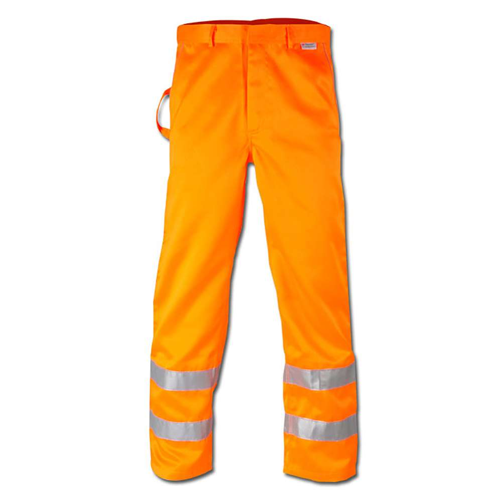 "Varselbyxor ""HEINZ"" - orange - EN 471/1 - blandväv"