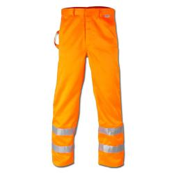 """HEINZ"" - Hi Vis Waistband Trouser - Orange Color - EN 471/1 - Blended Fabric"