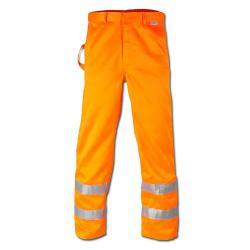 "Pantalone ad alta visibilitá ""HEINZ"" - con vita a cintura - arancione - tessuto misto"