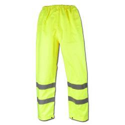 Restposten - Warnsicherheitshose - Gr. S - gelb - EN471/1 - 89/686/EEC - 100% PES - PU-Beschichtung - für die Arbeit an Straßen und dunklen Orten