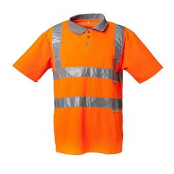 Alta visibilità Polo - 82% poliestere / 18% cotone - arancio, giallo