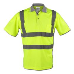"""BERND"" - High Visibilty Polo Shirt - Yellow Color - Safestyle -  EN  471/2"