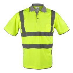 """""""BERND"""" - Høj synlighed poloshirt - farven gul - Safe Style - EN 471/2"""