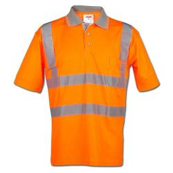 "Safety-Poloshirt ""CARLOS"" - 25/75% MG - 185 g/m²"