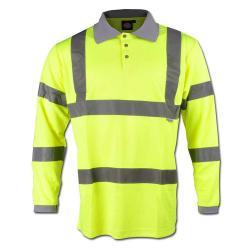 Polo - maniche lunghe - alta visibilità - Dickies - colore giallo