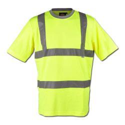 Warnschutz T-Shirt - hochsichtbar - Dickies - gelb - EN471 Klasse 2 Stufe 2 - Größe XXL - gelb