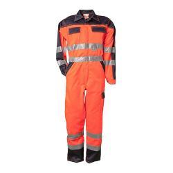 Varseloverall - 85% polyester/15% bomull - orange/marinblå