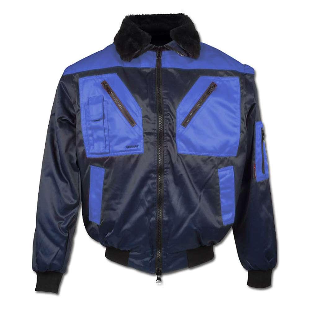 "Pilotjacka ""Vega"" - 60% bomull/40% polyester - marinblå/royal"