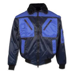 "Pilotjacke ""Vega"" - 60% Baumwolle/40% Polyester - marine/royal"