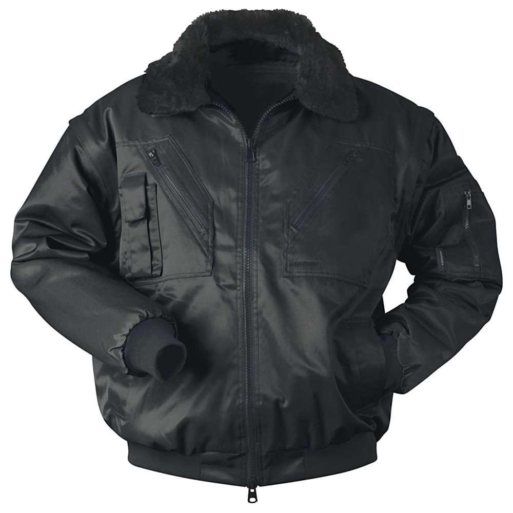 "Pilot Jacket ""Rondane"" - 60% Cotton/40% Polyester - Black"
