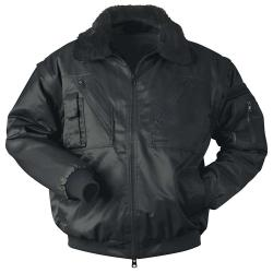 "Pilot Jacket ""Rondane"" - 60% Cotton/40% Polyester - Black"