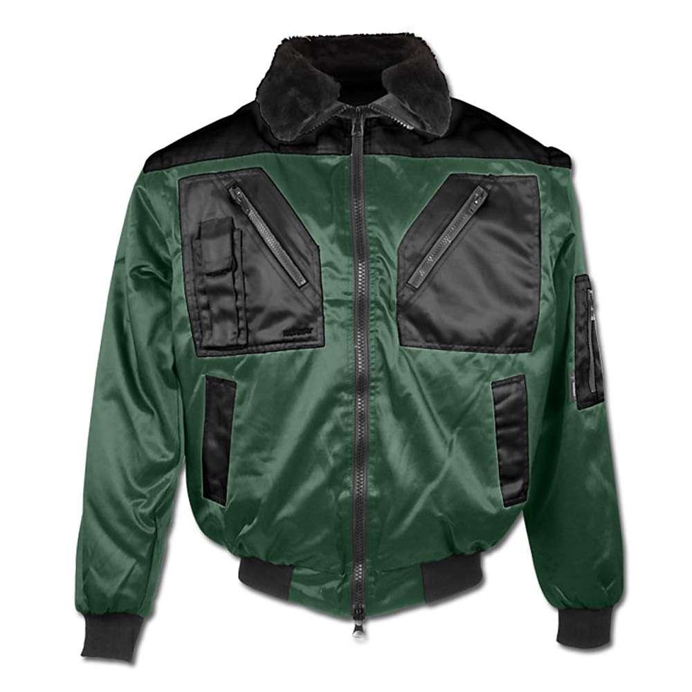 "Pilot Jacket ""ARENDAL"" - 60% Cotton/40% Polyester - Green/Black"