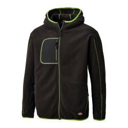Fleecejacke Pembroke - 100 % Polyester Microfleece - Größe XL - schwarz/grün