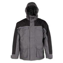 """Parka """"Cardigan"""" - 100% Polyamid - grau/schwarz"""