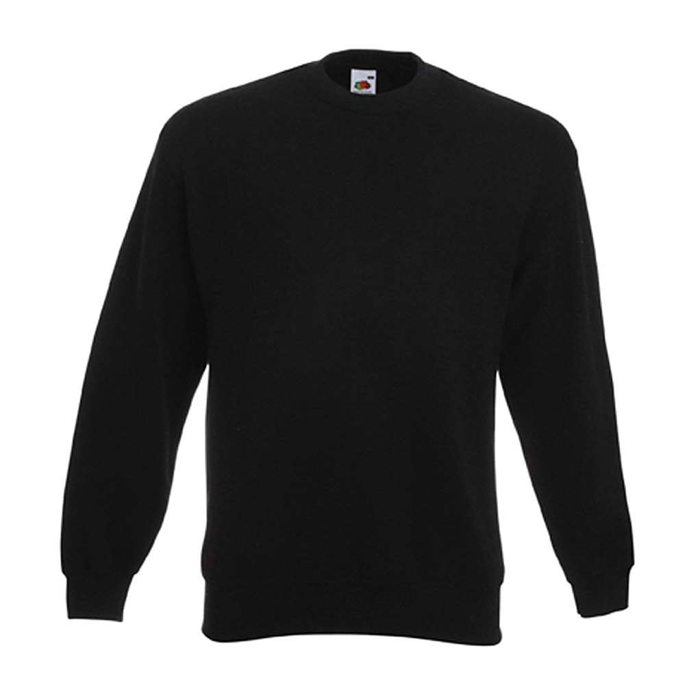 """ DENNIS"" - Sweat-Shirt - FRUIT OF THE LOOM® - Blandväv 80% bomull / 20% polyester - svart"