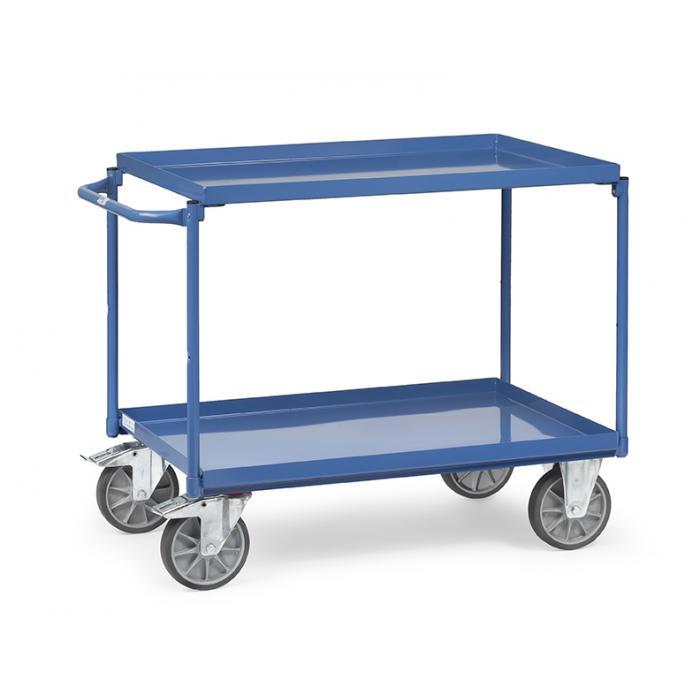 Table chariot - avec baignoires - capacité de charge de 400 kg - couleur bleu