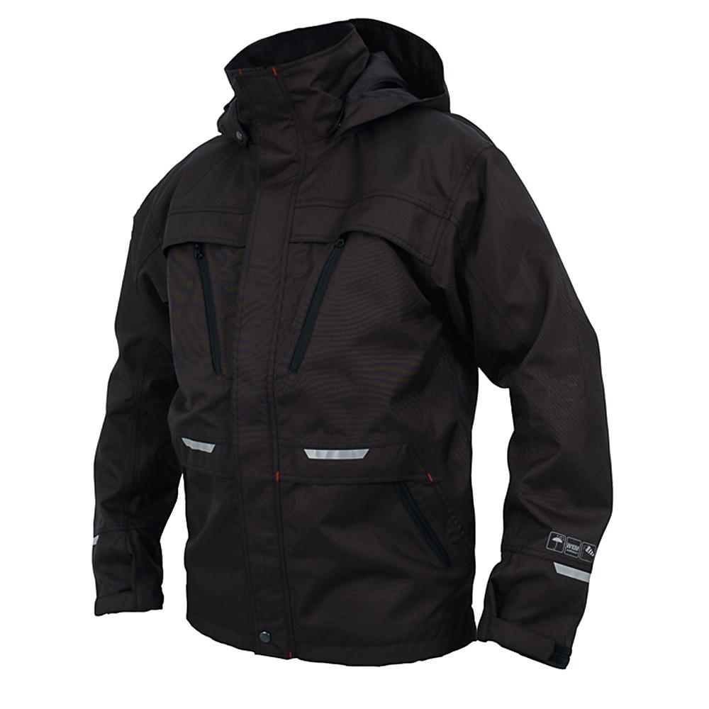 giacca impermeabile - OCEAN - impermeabile - design moderno - taglia XS-4XL - Colore Nero