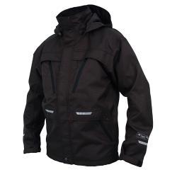 Weatherproof jacket - OCEAN - lined - waterproof - modern design - Size XS-4XL - Color Black
