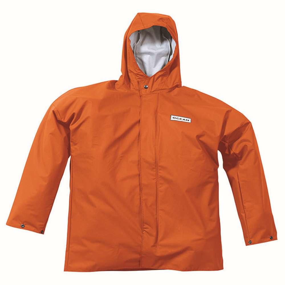 """Regenjacke - Ocean """"Comfort Heavy"""" - Kältebeständig - S bis 4XL - Orange"""