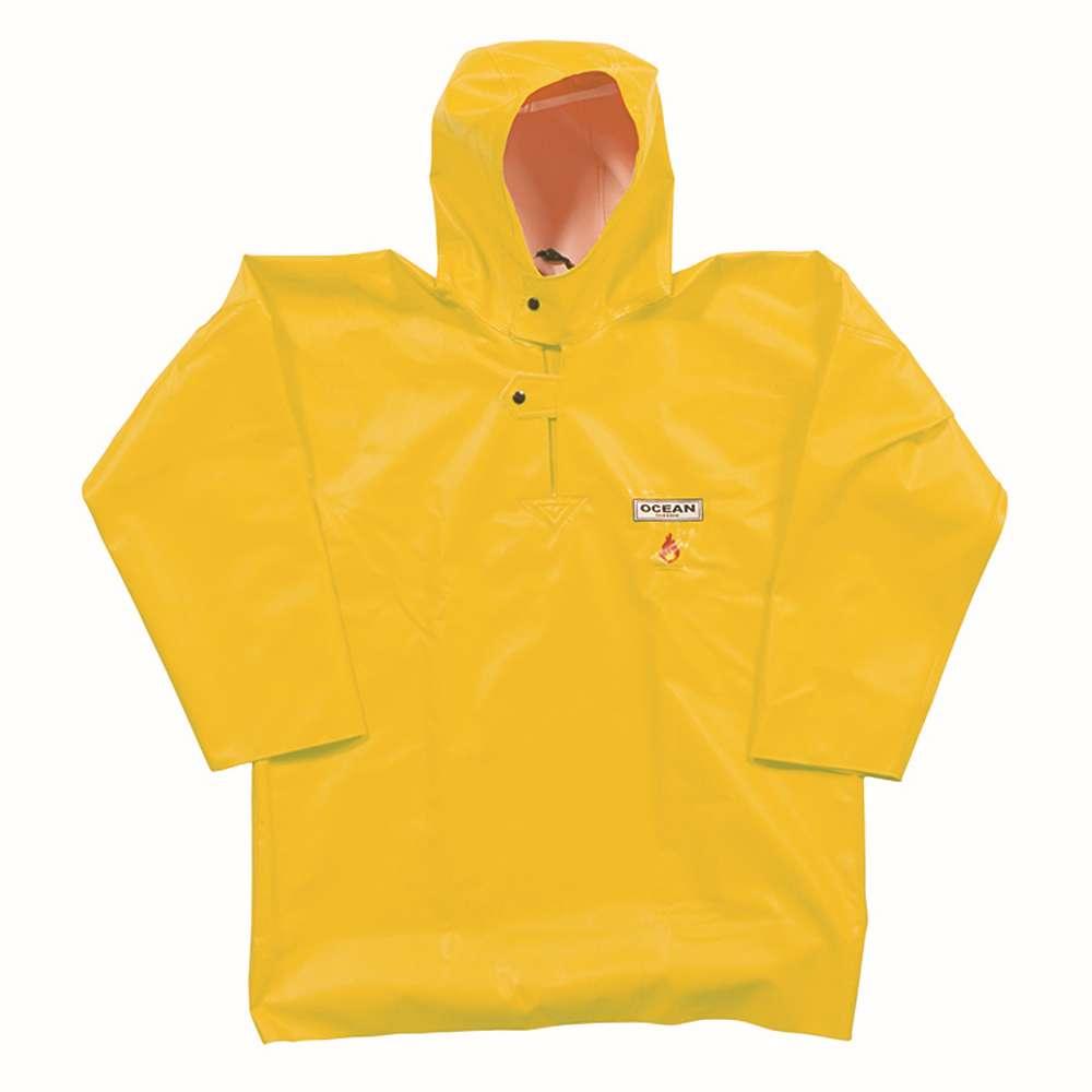 Fisherman blouse - Ocean - Flame retardant - Size S to 8XL - Color Yellow