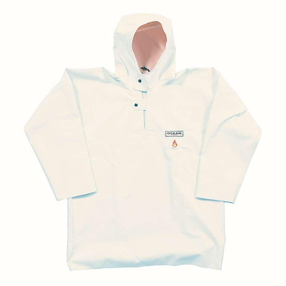 Fisherman blouse - Ocean - Flame retardant - Size S to 8XL - Color White