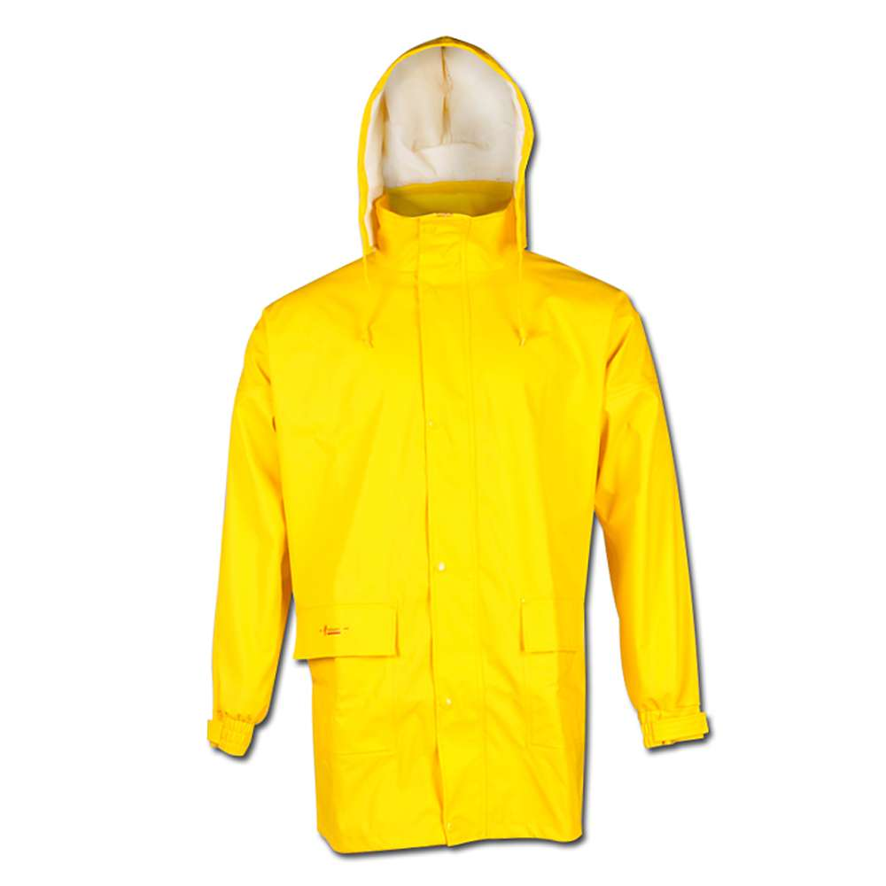 """LANDSKRONA"" - PU Weatherproof Jacket -Yellow"