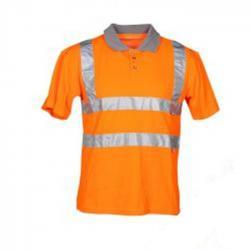 "Warnschutz Polo Shirt - ""High Visible"" - Mischgewebe - Reflexstreifen - Größe 54"